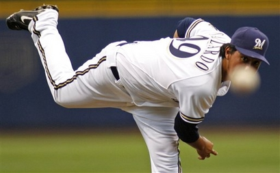 Gallardo esta ganador!!! (Brewers 5, Giants 4)