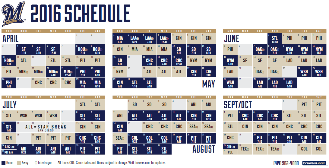 Delicate image pertaining to printable brewers schedule